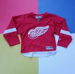 Official Junior NHL Detroit Redwing Hockey Jersey